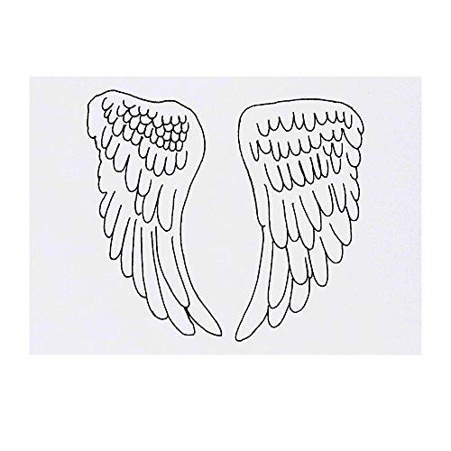 Grand 'Ailes d'Anges' Tatouages temporaires (TO00030750)