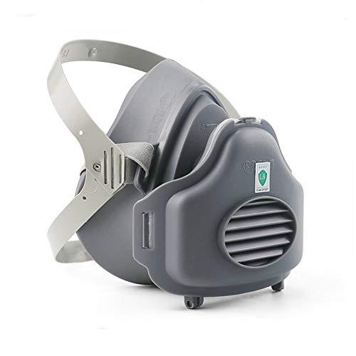 Gasmasker Met Filter Katoen, Full Seal Rubber Respirator Voor Het Schilderen Spuiten Dust, Particulate, Chemicals, Machine Polijsten En Adembescherming,B
