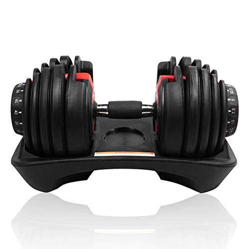 Tampor 50 Ibs Adjustable Dumbbell Series with Handle-Adjustable Weights Gym Equipment for Man and Women (Single)