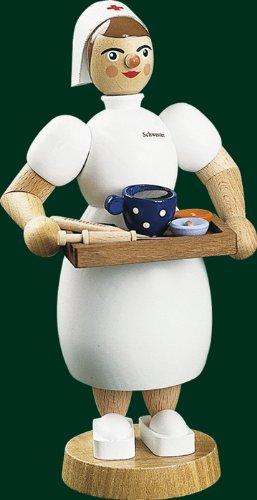 Richard Glässer Krankenschwester, Holz, Höhe 17 cm
