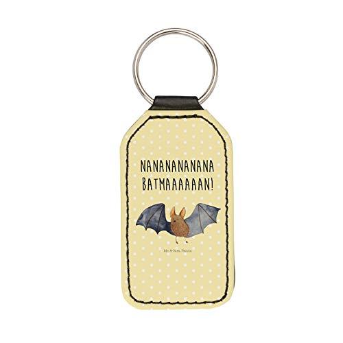 Mr. & Mrs. Panda Rechteckig Schlüsselanhänger Fledermaus fliegend - Fledermaus, Fledermäuse, Batman, Schlüsselanhänger, Anhänger, Taschenanhänger, Glücksbringer, Schlüsselband