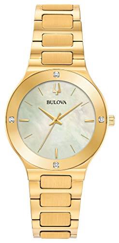 Bulova Damen Analog Quarz Uhr mit Edelstahl Armband 97R102