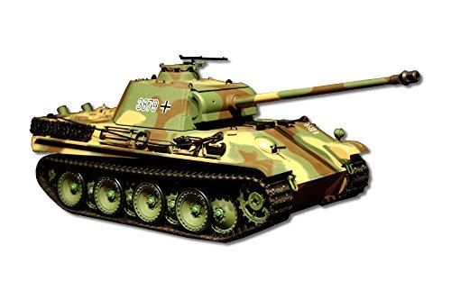 ES-TOYS Panzer ferngesteuert mit Schußfunktion Panther G Heng Long 1:16 mit Rauch&Sound und Stahlgetriebe - 2,4Ghz -V 6.0