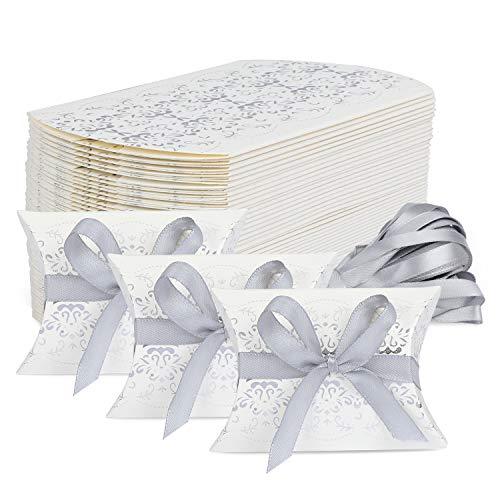 TsunNee Lot de 50 boîtes à dragées pour mariage