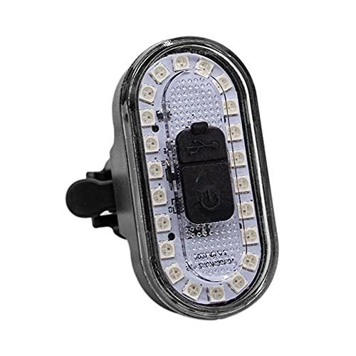 Luz Trasera de Bicicleta USB Recargable, 4 Opciones de Modo de luz, Impermeable y a Prueba de Golpes, lámpara Velo Delantera para Ciclismo MTB VTC