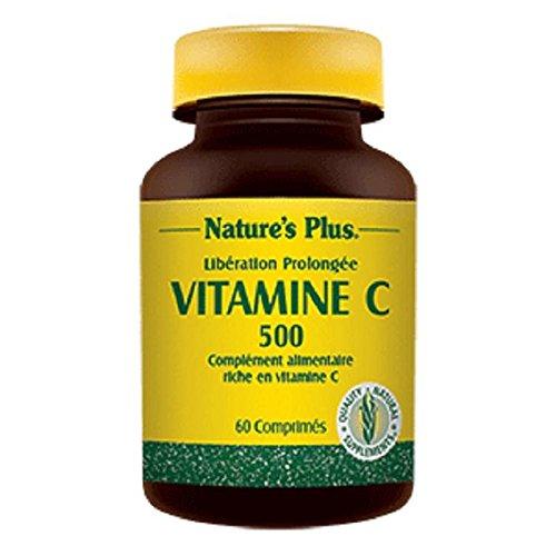 Nature s plus - Vitamine c 500 action prolongée - 60 comprimés sécables à croquer - Tonus et défense
