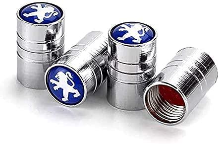 Coche Neumático Tapas Válvulas para Peugeot 2008 3008 4008 5008 107 206 207 208 408 407 507 506 306 307 308, Antirrobo Antipolvo Resistente Agua Decoración Accesorio