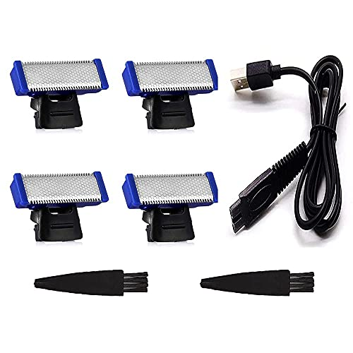 Microtouch Solo Replacement Heads for Old Version of Microtouch Solo Titanium Shaver Solo Razor as Seen on TV (Pack of 4)