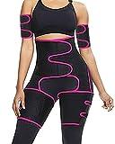 Reshe 4 in 1 Plus Size Waist Trainer Thigh Slimmer Butt Lifter Workout Waist Trainer for Women