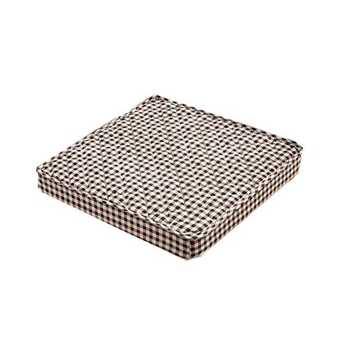 DIESZJ Ping BU Cojín para Silla de Oficina Cojín para Silla de Oficina Cojín de Respaldo Grueso para Coche Cojín para Silla de jardín Interior y Exterior Cojín Antideslizante (Café 50x50x5cm)