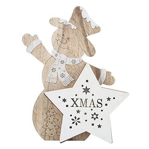 Hängender hölzerner Haus-Weihnachtsbaum führte Licht, die netten leuchtenden Anhänger, die Chalet-Verzierungen für Partei-Stab-Tischplattendekoration glühen(#1)
