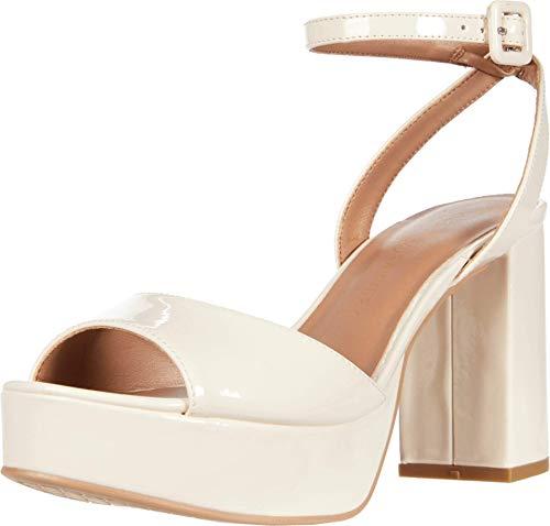 Chinese Laundry Women's Platform Sandal Heeled, Bone, 6.5