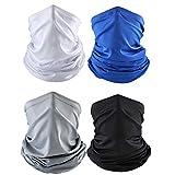 Sommer Bandana Gesichtsmaske Sun UV Schutz Nackenschutz Cooling Face Schal 4er Pack