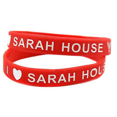 Hjyi Gummiarmbänder Silikon-Armbänder Sport mit Logos Sarah Haus auf Silikon-Armband für Kinder Motivation Armbänder mit Sprüchen, Set o F 10 Stück