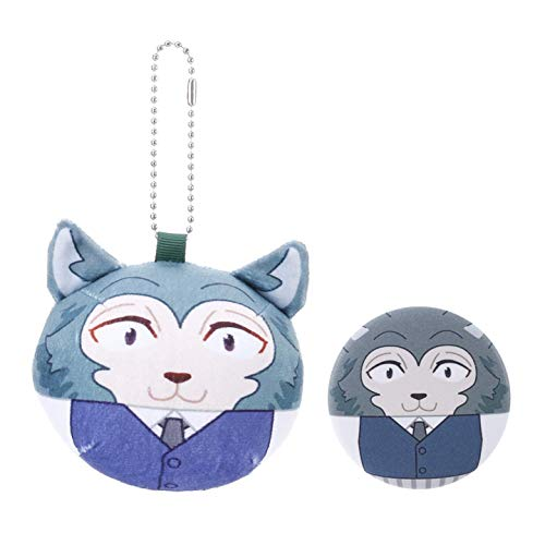 Leyue Avanzato Nuovo Anime Beastars Plush Bambola Portachiavi e 1Badge Piewed Toy (Nessuno H02) (Color : H03)