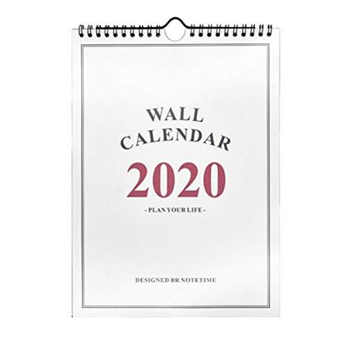 Toyvian Famiglia calendario 2020 da muro mensile pianificatori giornalieri per la decorazione di casa e ufficio