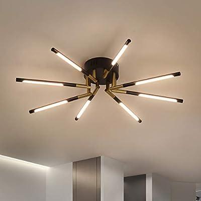 Feimiao Sputnik Modern Ceiling Light 8-Lights Chandelier Lighting Fixture,Close to Ceiling Light Industrial Retro Style Light for Dining Room ,Living Room ,Kitchen Island (8-Lights)