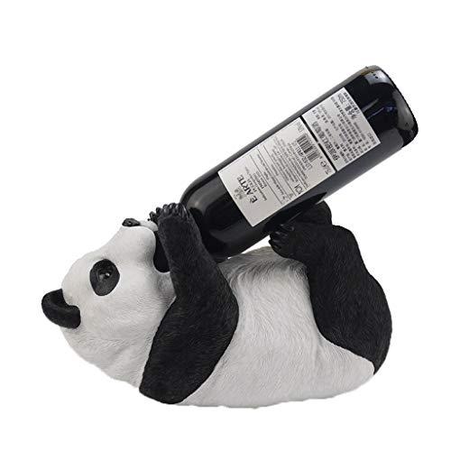 Estantería de Vino Panda Vino de mesa soporte for botella de vino Rack, figura de resina de vino decorativo soporte for botella de bastidor soporte coleccionables creativo del vino Estantería de Botel