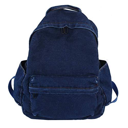 MaxxCloud Girls Vintage Denim Backpack Jeans Daypack Bag Travel Bag Rucksack (Dark Blue 3)