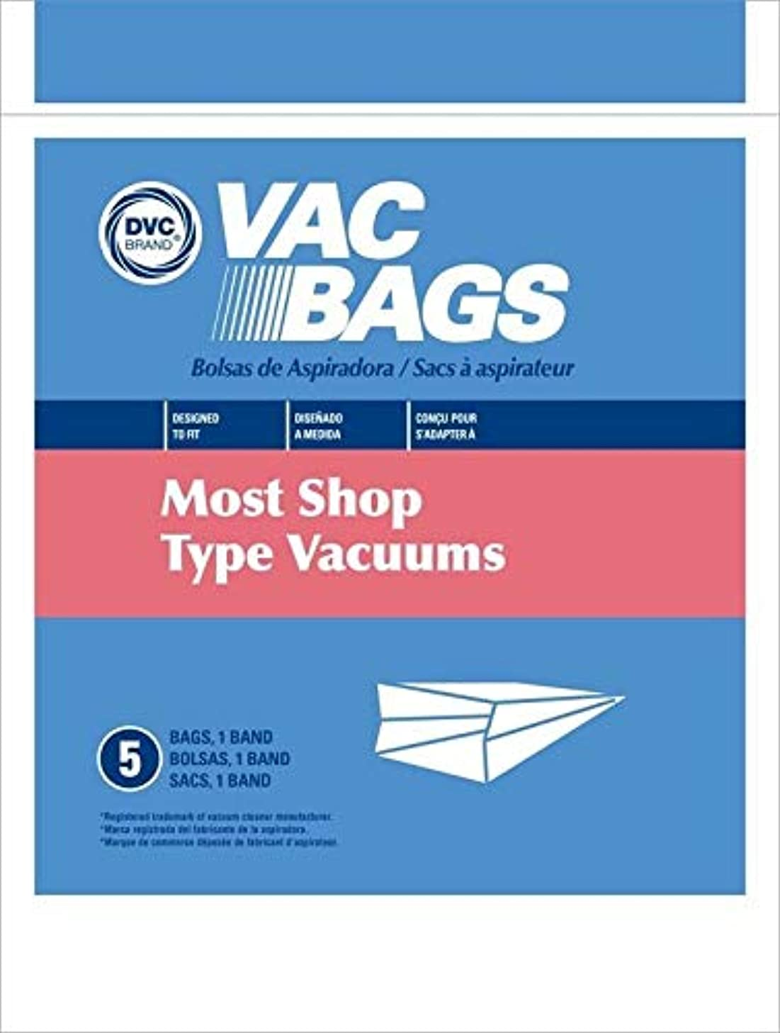 DVC Fits Most Shop Vac Type Canisters Vacuum Cleaner Bags Made in USA [ 30 Bags ]