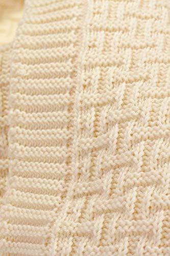 Wallaboo Coperta ultra morbida per bambini Eden, puro 100% cotone bio, Dimensione 90 x 70 cm, lavorata a maglia, per lettino, Colore: Vaniglia