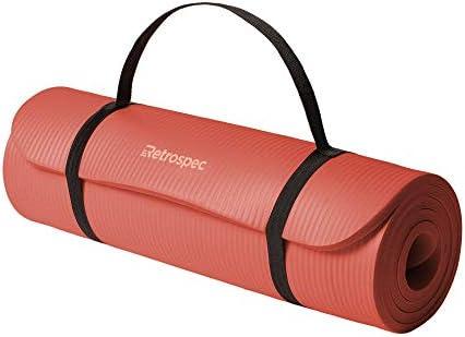 Retrospec Solana Yoga Mat 1 2 Thick w Nylon Strap for Men Women Non Slip Excercise Mat for Yoga product image