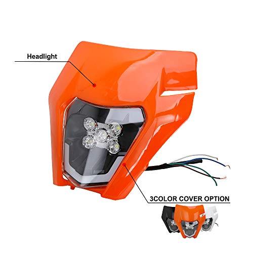 Motorrad Scheinwerfer LED Universal Scheinwerfer Verkleidung Licht Scheinwerfer für K.T.M EXC250 SX250 SXF250 EXC450 SX350 SXF450 EXC525 640LC4 Dirt Bike Motocross Enduro Supermoto-Orange