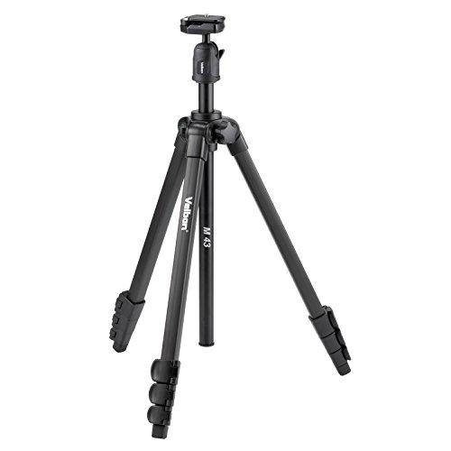 Velbon M43 Statief met Bal en Socket Hoofd - Zwart