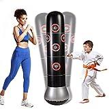 Minterest Sacco da boxe gonfiabile, 160 cm, per bambini e adulti, attrezzi da allenamento per esercizi Taekwondo Karate,Alleviare lo Stress per Bambini e Adulti