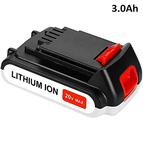 LBXR20 3000mAh Replace for Black and Decker 20V Battery MAX Lithium LBXR20 LB20 LBX20 LBXR2020-OPE LBXR20B-2 LB2X4020 LST220 Cordless Power Tool