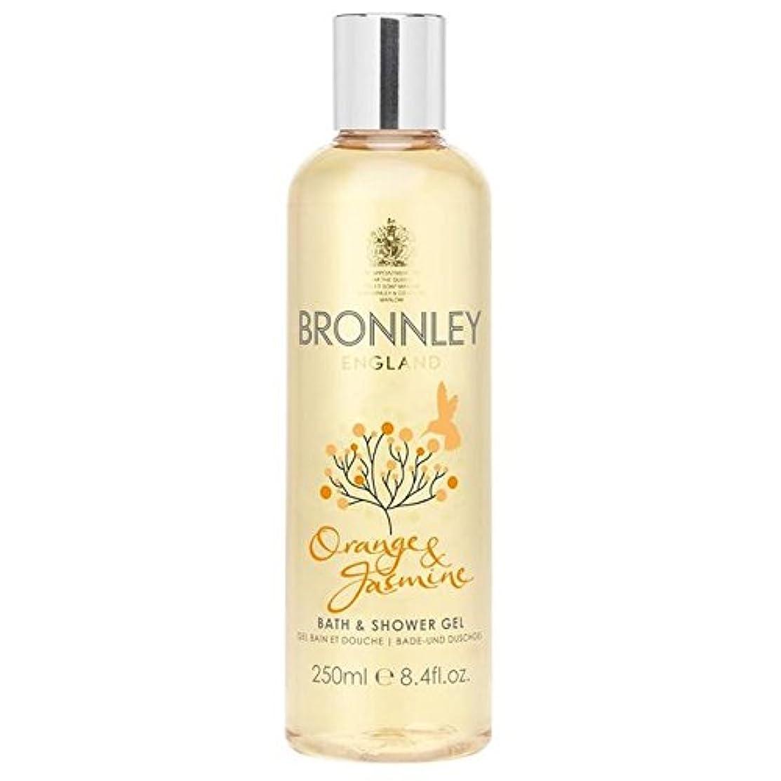 シャット国際スラム街オレンジ&ジャスミンバス&シャワージェル250ミリリットル x2 - Bronnley Orange & Jasmine Bath & Shower Gel 250ml (Pack of 2) [並行輸入品]