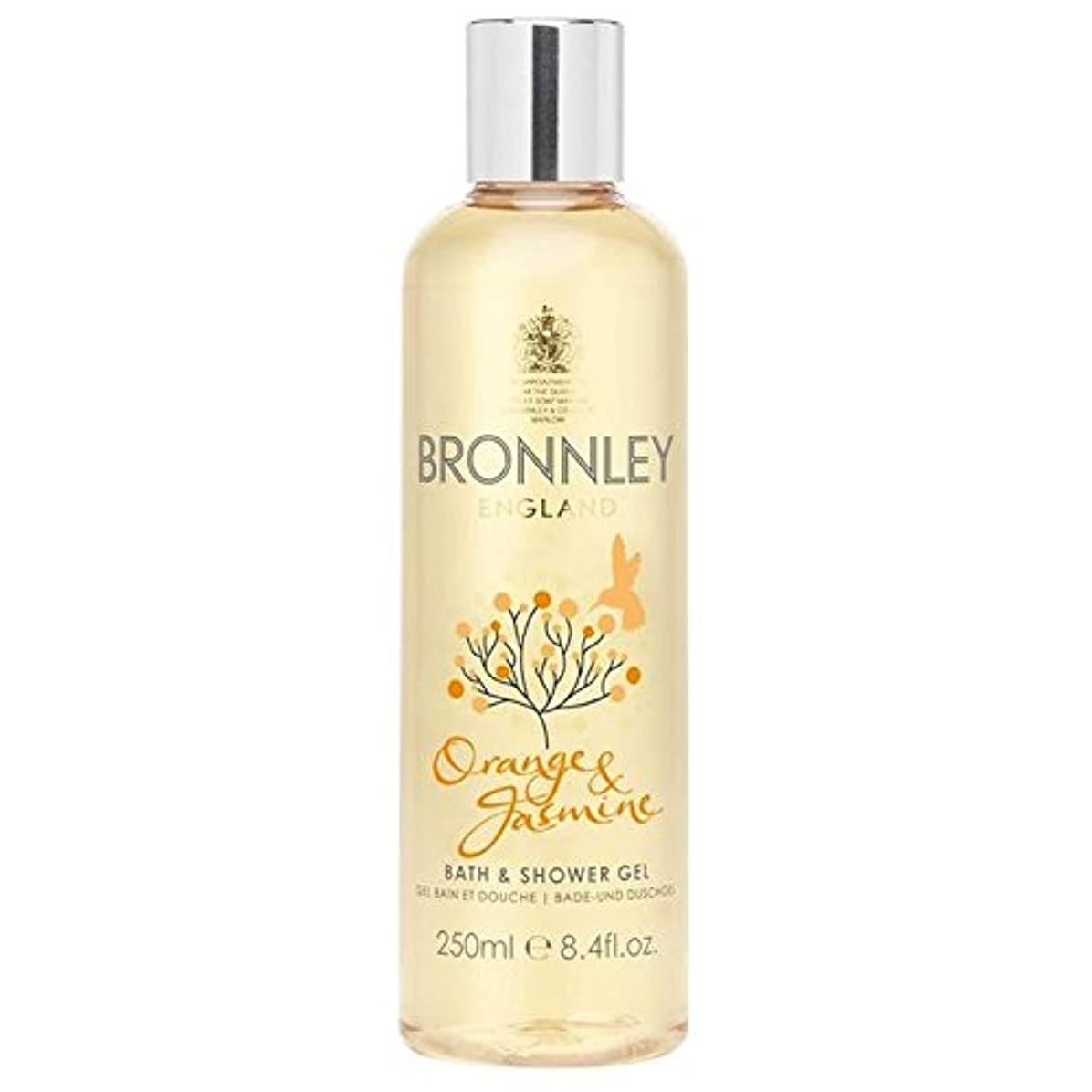 タイル落胆する商標オレンジ&ジャスミンバス&シャワージェル250ミリリットル x2 - Bronnley Orange & Jasmine Bath & Shower Gel 250ml (Pack of 2) [並行輸入品]