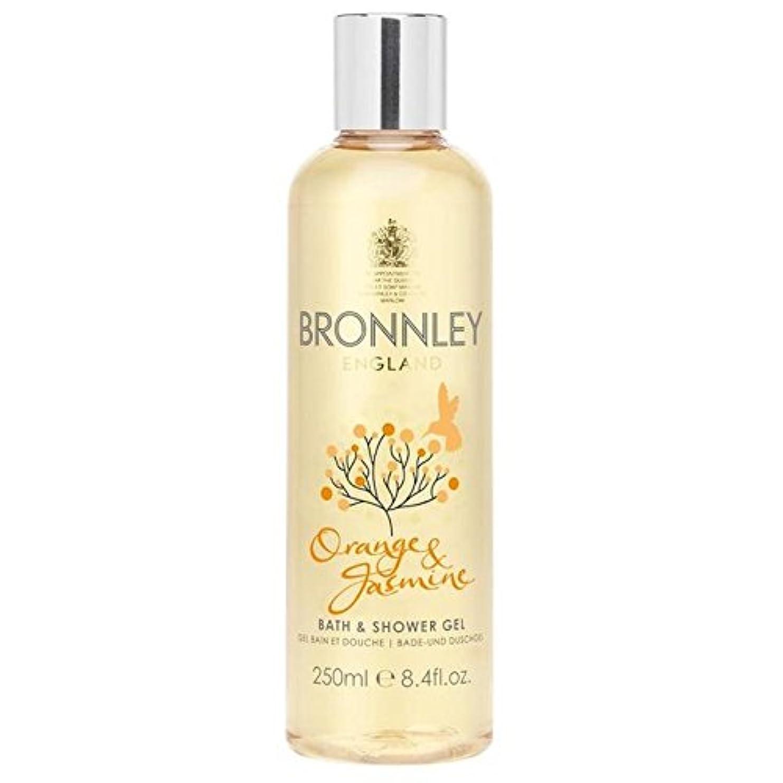 バーゲン騒乱成り立つオレンジ&ジャスミンバス&シャワージェル250ミリリットル x4 - Bronnley Orange & Jasmine Bath & Shower Gel 250ml (Pack of 4) [並行輸入品]