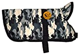Sage Square Premium Dog Winter Ultra Warm Camouflage Army Coat Thicker Fleece Dog Hoodie Vest for Cold Weather (1 Piece) (18Inch (Medium-Large))