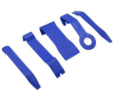 Zierleistenkeile-Set (5-teilig), Minleer Auto Türverkleidung und Platten, Universal Automotive Trimmwerkzeug-Set Kit-Einsatz auf Türverkleidungen (Blau)