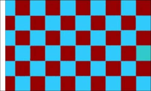 FlagSuperstore© Weinrot & Himmelblau karierte Bootsflagge 45,7 x 30,5 cm – Baumhäuser, Wohnwagen – Ärmel 45 cm x 30 cm – kariert