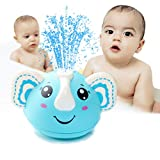 HLXY Bath Toys, Induction Spray Water Elephant Toy with LED Light, Automatic Sprinkler Bathtub Shower Pool Bathroom Toy for Baby Toddler Infant Kids Light Up Bath Toys