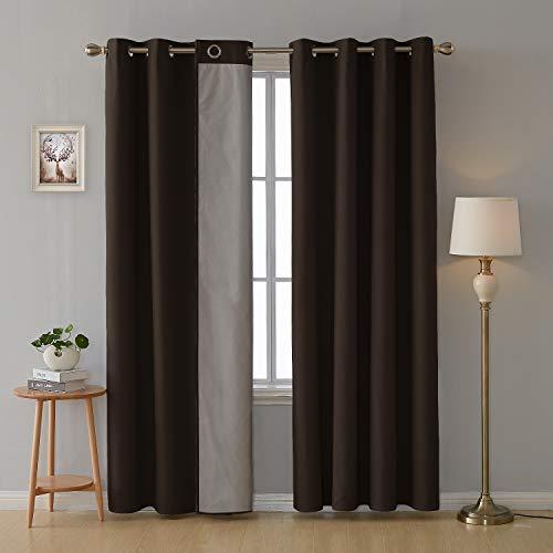 cortinas habitacion marron