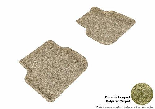3D MAXpider Carpet Floor Mats for Volswagen Jetta Sedan 2011-2018 Custom Fit Car Floor Liners, Classic Series (2nd Row, Tan)