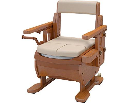 安寿 家具調トイレセレクトR はねあげワイド ソフト便座 533-872 (アロン化成) (木製トイレ)