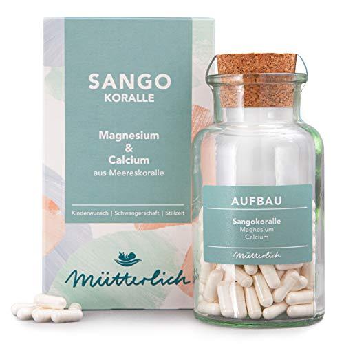 mütterlich Sango Koralle | Natürliches Magnesium & Calcium | Wichtige Ergänzung zu Folsäure Tabletten bei Kinderwunsch, Schwangerschaft und Stillzeit | 100{46a65d2656c8500ecc246c76d63f7157b1617c308e388af2d80fd3b0bb0383f7} natürlich | vegan | 120 Kapseln (1 Monat)