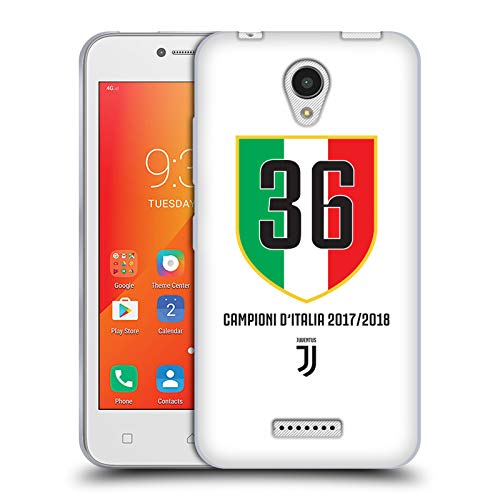 Head Case Designs Oficial Juventus Football Club Scudetto Blanco 2018 Campioni D'Italia Carcasa de Gel de Silicona Compatible con Lenovo A Plus