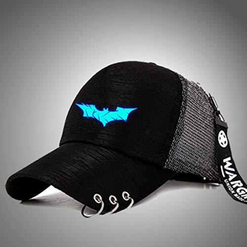 youjiu Gorra de béisbol de Moda Sombrero de Malla Sombrero Sombrero Luminoso versión Coreana de la Marea Moda Femenina @ bluebottom_Batman_tiehuan Net Cap Ajustable