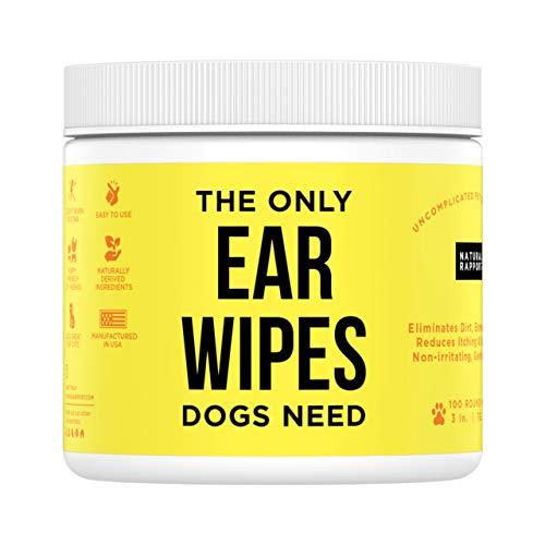 Natural Rapport Hunde Ohrenreiniger Lösung, Ohrenschmalz Entferner, Schmutz und Verunreinigungen Beseitigen (Tücher und Tropfen zur Ohrreinigung)