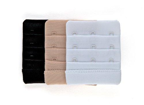 Fashion First Aid Fashion First Aid: Brah! Extender BH Verlängerung Rückenteil-Extender Verlängerung des BH-Verschlusses 3-Stück 3-Haken