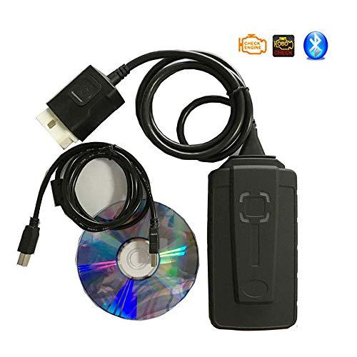LNLN 2019 TCS CDP DS150 con Cavo LED OBD2 PRO Bluetooth Gratuito per Strumento Diagnostico di Dialogo Automatico OBD2, Lettore di Codici, Software Dvd (2015.3 o 2016.1)-Nero