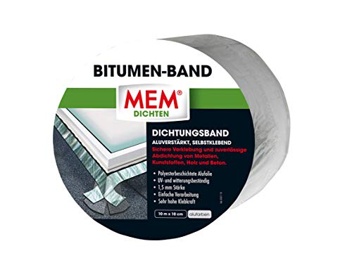 MEM 500481 bitumen band 10 m x 100 mm aluminium