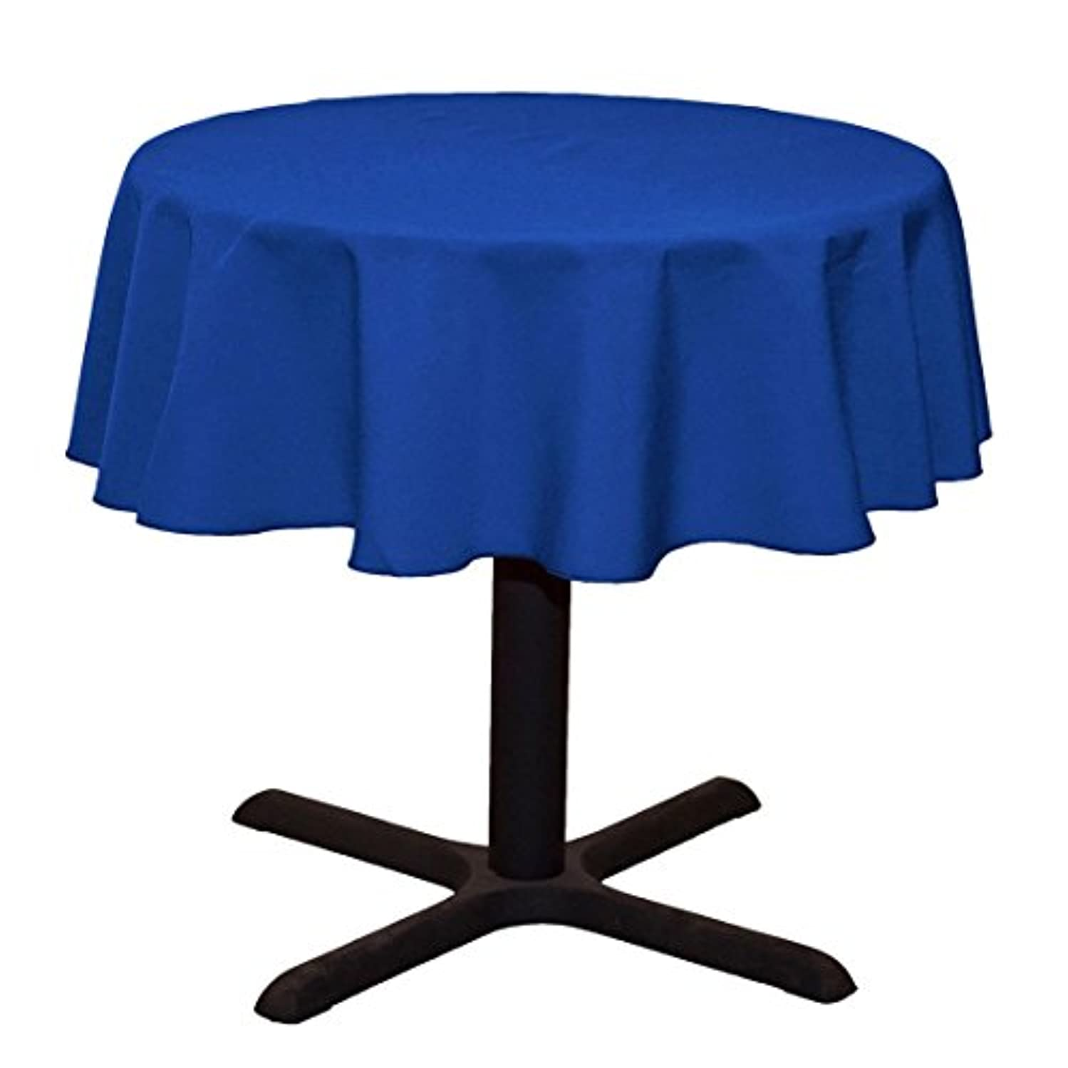 LinenTablecloth Round Cotton-feel Tablecloth, 51-Inch, Royal Blue