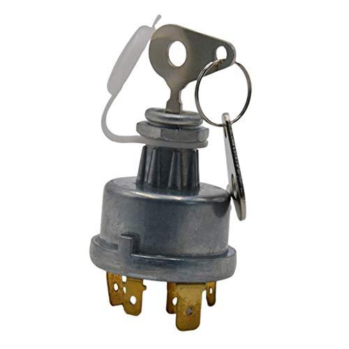 MERIGLARE Interruptor de Encendido Universal de 4 Posiciones con Llave para Tractor Lucas 12 / 24V 128SA
