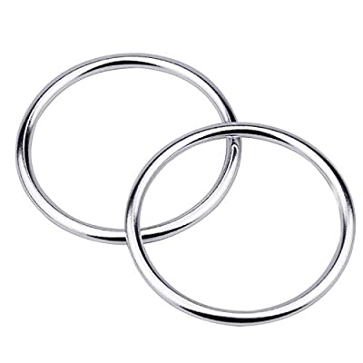 2 Pieces Baby Sling Ring Aluminium Wrap Rings for Infants Toddlers Carriers and Slings, Silver, mom Loved - 3.5inch